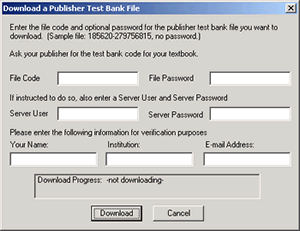Image of Download dialog box