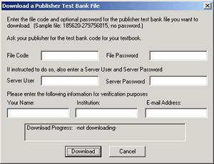 Image of Download dialog box